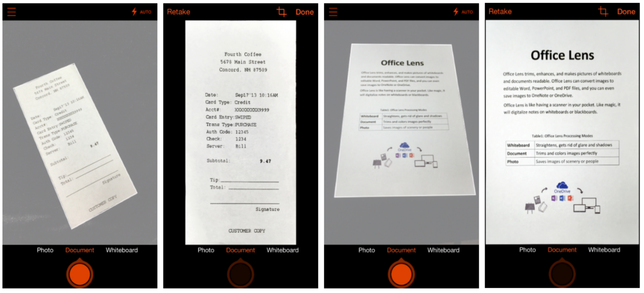Can I use my mobile to scan documents?