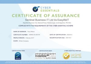 EasylifeIT is recertified for Cyber Essentials